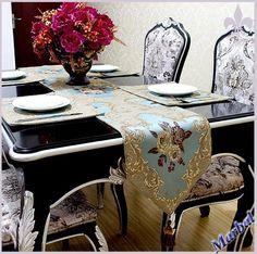 Cheap 2015 modernos clásicos café jacquard alivio estilo europeo comidas decoración de… Gold Table Runners, Quilted Table Runners, Table Flag, Make A Table, Linen Rentals, Table Toppers, European Fashion, Modern Classic, Canadian Smocking