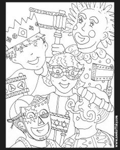 A Purim coloring page