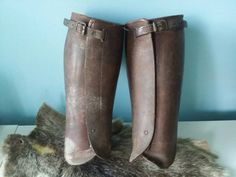 Bekijk dit items in mijn Etsy shop https://www.etsy.com/nl/listing/268565587/steampunk-antique-spats-shin-guards