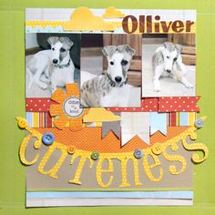 #papercraft #scrapbook #layout    All the banners, oh my!   Cuteness - Scrapbook.com