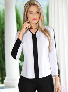 #ClippedOnIssuu from Bbl39 web Cool Outfits, Fashion Outfits, Womens Fashion, African Blouses, Blazer Dress, Work Wardrobe, Plus Size Blouses, Couture Fashion, Blouse Designs