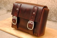 Leather Motorcycle Bag Bici Moto by BiciCouture on Etsy