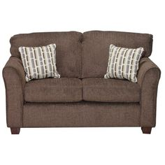 WALLSTHERSHEYLV  Wall St  60  Brown Upholstered Loveseat, RC Willey