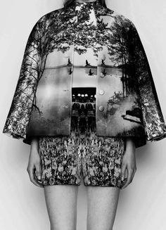 Landscape Print Tailoring - contemporary printed fashion // Mary Katrantzou Resort 2014