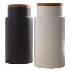 Vorratsdose Pokal Weiße Vorratsdose mit Bambusdeckel, S