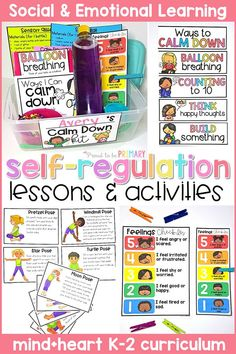 Teach children to self-regulate, manage their emotions, develop self-control, and self-esteem with this social emotional learning resource. Children will make their own calm down kit and stress ball. Teachers will facilitate the class learning and practicing yoga, brain breaks, and other mindfulness strategies in the classroom. #socialemotionlearning #classroommanagement #socialskills #selfregulation #calmdownstrategies