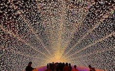 Look How Stunning These Japanese Winter Lights Festivals Are - Sherpa Land Nabana No Sato, Napoleon Hill, Transformers, Winter Light Festival, Japan Travel, Japan Trip, Light Decorations, Beautiful Places, Dream Wedding