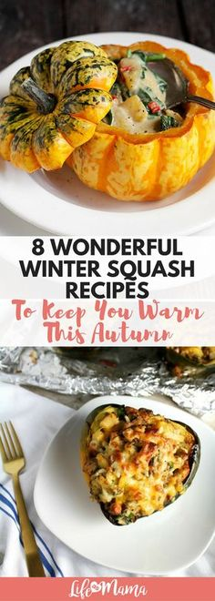 Acorn, Butternut, Spaghetti, Banana, Sweet Dumpling, Carnival, Delicata and Pumpkin- so many winter squash!I've found some of the best looking winter squash recipes and plan to make them all this autumn and winter!