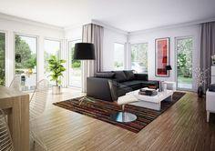 Inneneinrichtung WOHNZIMMER Modern Haus Edition 1 V7 Bien Zenker Einfamilienhaus Grundriss Offen Wohnzimmer