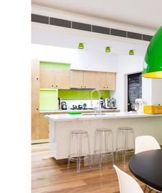 Melbourne Home – Zoe Murphy and Family. The Design Files. Beautiful house with lovely use of big bold colour!