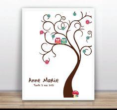 Árbol Libro de Visitas Imprimible  Árbol de familia  por ByYolanda, €15.00