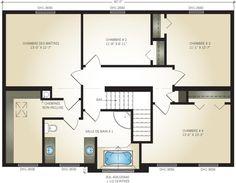 Plan du deuxième étage