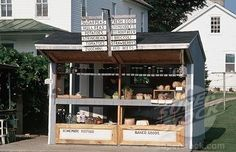 SuperStock - Amish Roadside Stand Offering Various Foods
