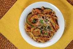 Chicken Recipe : Zucchini Chicken Pasta in Tomato Parmesan Sauce