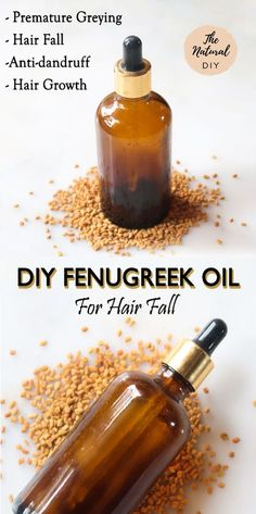 DIY FENUGREEK OIL FOR HAIR FALL - The Natural DIY
