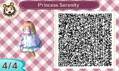 """(LINK) youkaiyume: """" Princess Serenity Dress! More Animal Crossing: New Leaf QR Codes Made by me. Please feel free to use! 8D """""""