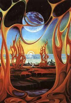 The Futuristic Age of Retro Sci-Fi Arte Sci Fi, Science Fiction Kunst, Sci Fi Kunst, Les Reptiles, 70s Sci Fi Art, Fantasy Kunst, Alien Art, Arte Horror, Environment Concept Art