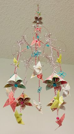 Origami Flower Mobile Origami Tutorial Lets Make It