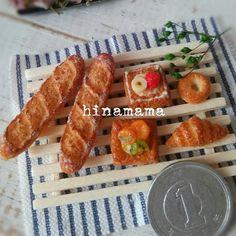 こちらはミンネへ* * ご購入ありがとうございました(*^^*) * * #ミニチュア#ミニチュアフード#ハンドメイド#ミニチュアスイーツ#ドールハウス#ひなママ#hinamama#miniature#miniaturefood#handmade#bakery#dollhouse #miniaturesweets#パン