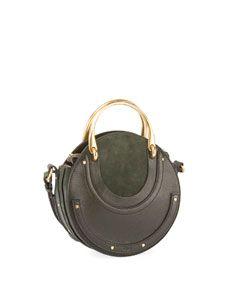 64c71630c0 Chloe Pixie Small Round Double-Handle Tote Bag