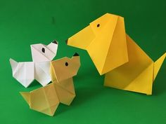 How to make a origami paper dog with moving head! paper folding project for kids - YouTube