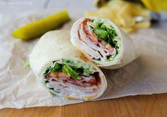 turkey ranch club wrap, turkey, bacon, lunch