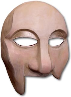 This Greek theatre mask of the Guard possesses qualities of mirth, laziness and gluttony. Theater Masks, Theatre, Greek Tragedy, Drama Class, Half Mask, Face Characters, Ancient Greece, Custom Design, Abstract