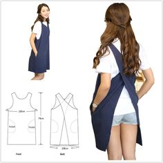 AOBBYBBS Soft Cotton Linen Apron Solid Color Halter Cross Bandage Aprons Japanese Style X Shape Double Pockets Kitchen Cooking Clothes Gift for Women Chef Housewarming -LightGray Sewing Aprons, Sewing Clothes, Diy Clothes, Japanese Apron, Japanese Style, Japanese House, Radium Girls, Linen Apron, Professional Outfits