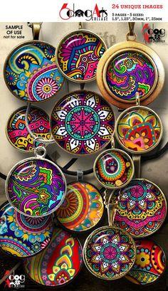 Best 12 Decorative Ceramic Mandala Plates by Mercadolibre – SkillOfKing. Image Collage, Mini Bottles, Resin Pendant, Paisley Design, Pottery Painting, Unique Image, Collage Sheet, Digital Collage, Original Image