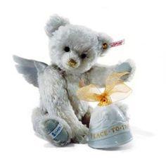 "Steiff Collectible Lladro Angel Bear EAN 676833 Apprx. 12"" White Tag Mohair New #Steiff"