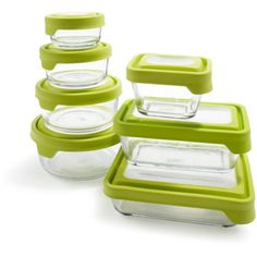 Anchor Hocking Glass Storage Containers, Rectangle