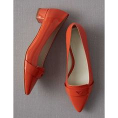 Boden Edie orange patent heels Adorable orange patent leather heels from Boden. Never worn! Look fabulous with dresses to skinny jeans! Have dustbag.  No trades. No modeling. Boden Shoes Heels