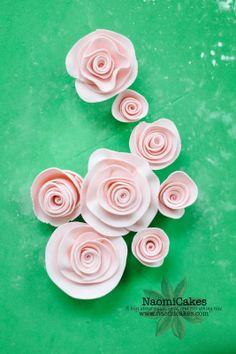 Easy Gum Paste Sugar Roses [Tutorial]