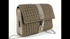 TUTORIAL Borsa Uncinetto - Mod.DOPPIAG - Crochet- Punto ventaglio obliquo