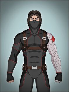 Bucky Barnes as the Winter soldier. Looks as if he willingly works for Hydra. Marvel Dc, Marvel Heroes, Captain Marvel, Superhero Images, Superhero Design, Comic Character, Character Design, Marvel Animation, Superhero Villains
