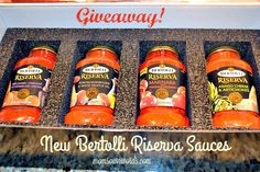 Bertolli Riserva Pasta Sauces Giveaway #MyTuscanTable 11/10 - Moms Own Words