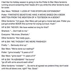 Fantastic Beasts and Rogue 1: the Potter and Star Wars fandoms go wild.