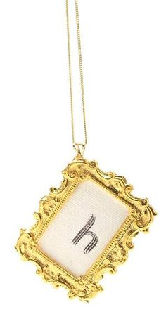 Cute necklace. Saw it in a group of three!