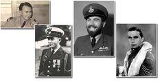 Czechoslovak Pilots of the RAF. Left to right: Karel Kutlvašer, František Peřina, František Fajtl, Josef František
