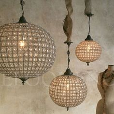 Lighting - Chandeliers - Reproduction Large Globe Chandelier - Cottage Haven Interiors
