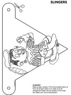 Kleurplaat Zwarte piet - slingers - Kleurplaten.nl Diy For Kids, Coloring Pages, Origami, Saints, Snoopy, Seasons, School, Fictional Characters, Stage