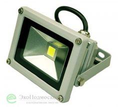 Светодиодный прожектор 10 ватт 220В в уличном корпусе купить недорого по цене 410 руб. в Москве