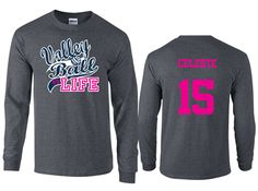 Volleyball T Shirt Design Ideas tags Love This Volleyball Life Volleyball Long Sleeve T Shirt