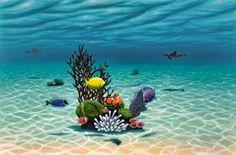 dan mackin art underwater garden fish