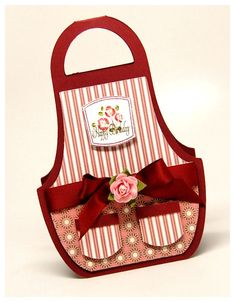 An Apron Card! Great for the new (traditional) bride! Great to adorn a box of home made cookies you give as a gift!