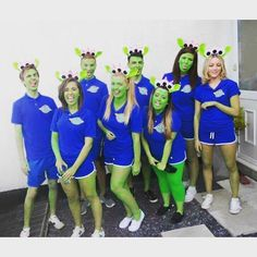 Aliens From Toy Story A super creative and easy group Halloween costume you can make at home.  sc 1 st  Pinterest & Toy Story Alien Pizza Planet Logo | Camp Can Do | Pinterest | Pizza ...