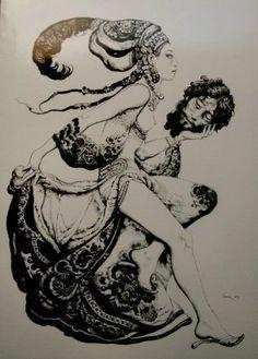 Les figures de femme fatale empruntées à la mythologie, comme Méduse, le Sphinx…