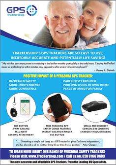 If you would like more info about how our personal trackers can help you and your loved ones, please visit our website www.trackershop.com :)