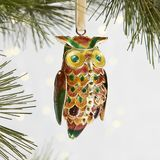 Pier 1 imports Cloisonne Owl Brass & Enamel Christmas Ornament New in Box Christmas Owls, Christmas Decorations, Christmas Ornaments, Holiday Decor, Globe Ornament, Owl Ornament, Baby Owls, Jewel Box, Yule