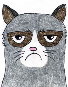 Find how easy it is to draw Grumpy cat with my tutorial. Luckily, he has some distinctive features, like the rings around his eyes and his famous frown.